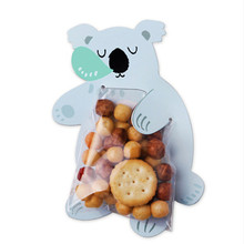 Lovely Animal Candy Bags Greeting Cards Baby Shower Birthday Party Candy Box Gift Bags Cookie Bags 10Pcs/lot(China)