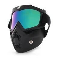 Staub-proof Radfahren Volle Gesicht Maske Männer Frauen Ski Brille Winddicht Winter Taktische Snowboard mit Anti-Uv Gläser für eine fahrrad
