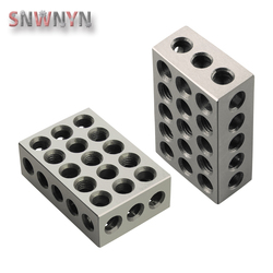 2pcs/pair 23 Holes Precision 25-50-75mm Blocks Gauge Hardened Steel Parallel Block Set Matched Machinist Milling Tool