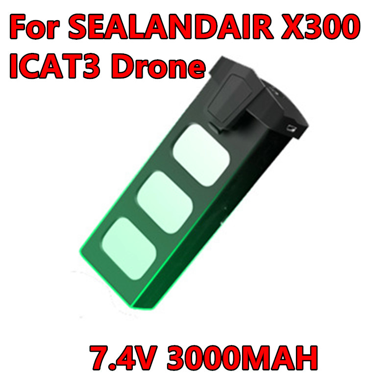 Original SEALANDAIR X300 SMRC ICAT3 <font><b>Battery</b></font> <font><b>7.4V</b></font> <font><b>3000MAH</b></font> <font><b>Lipo</b></font> <font><b>Battery</b></font> 30 mins Flight Time RC Drone Quadcopter Spare <font><b>Battery</b></font> image