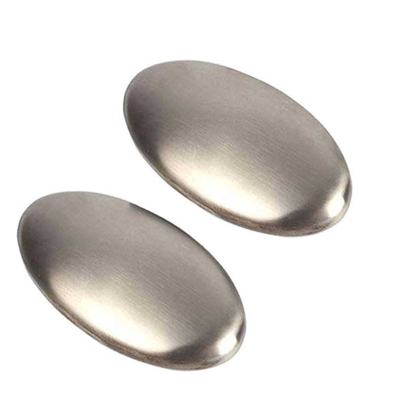 Stainless Steel Soap, Odor Remover Hand Bar Kitchen Eliminating Smells Like Onion, Garlic, Fish, And Other Strong Scents 2 Pack