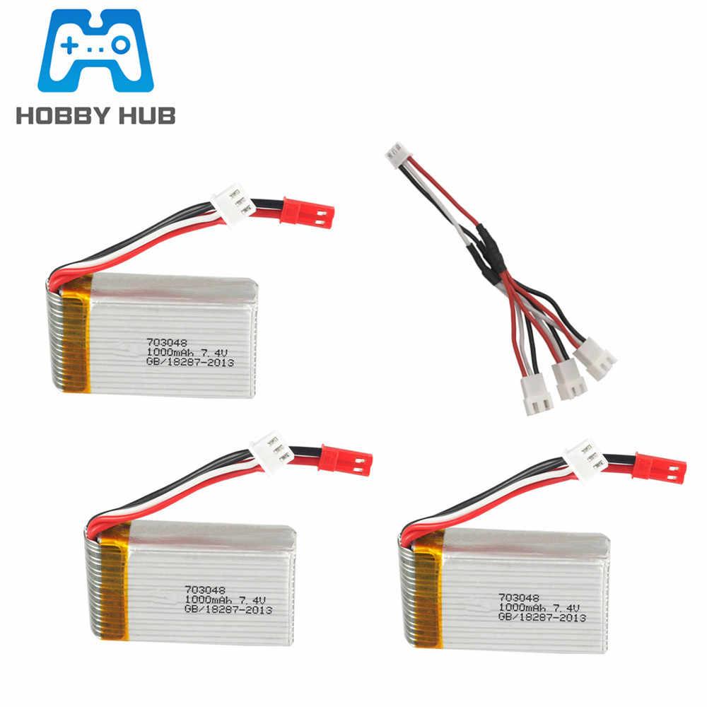 7.4v 1000mah 25c Lipo Batterie + 7.4v Chargeur Pour MJXRC X600 U829A U829X F46 X601H JXD391 FT007 2s Lipo Batterie 703048