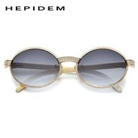 HEPIDEM Buffalo Horn Sunglasses Men Luxury Brand Designer Diamond Round Sun Glasses for Women 2019 New High Quality Shades