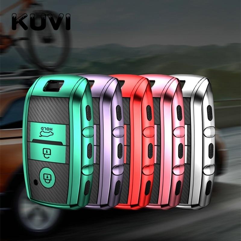 TPU Car Key Cover Case For Kia Rio 3 K2 Ceed Cerato K3 Sportage 4 Picanto K5 Optima Sorento Forte Stinger Key Ring