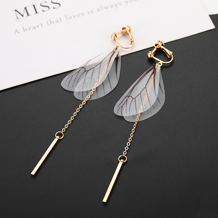 Brinco Boucle D Oreille Brincos 2019 Rushed Earings Pair Earrings Butterfly Wing Fashionable Tasseled Ear Clipsinsect