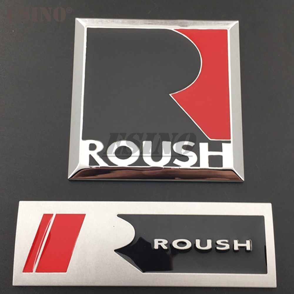 3D Roush Performance Car Trunk Metal Alloy Grill Adhesive Badge Emblem Body Tailgate Accessories For Mustang Shelby GT GT 500