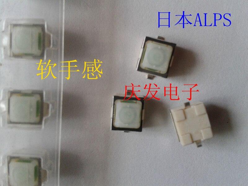 Importação japão alpes skpgaae010 6.3*6.6*5mm cabeça macia interruptor de toque reset