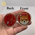 Новинка, 8 типов криптовалюты Dogecoin Killer Shiba Inu, (SHIB), криптовалюты с золотым покрытием, физические шиб, красные монеты, сувенирные монеты