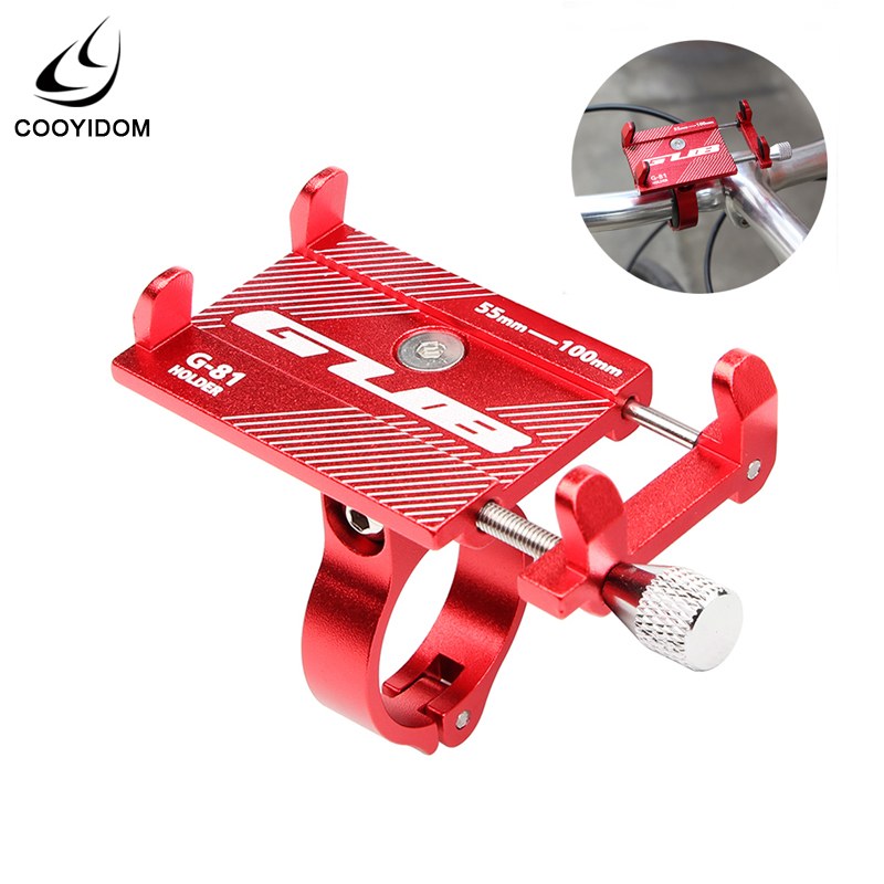 GUB G81 G-81 Aluminum Bicycle <font><b>Phone</b></font> <font><b>Holder</b></font> For Smartphone 3.5-6.2 inch Adjustable Support GPS <font><b>Bike</b></font> <font><b>Phone</b></font> Stand Mount Bracket image
