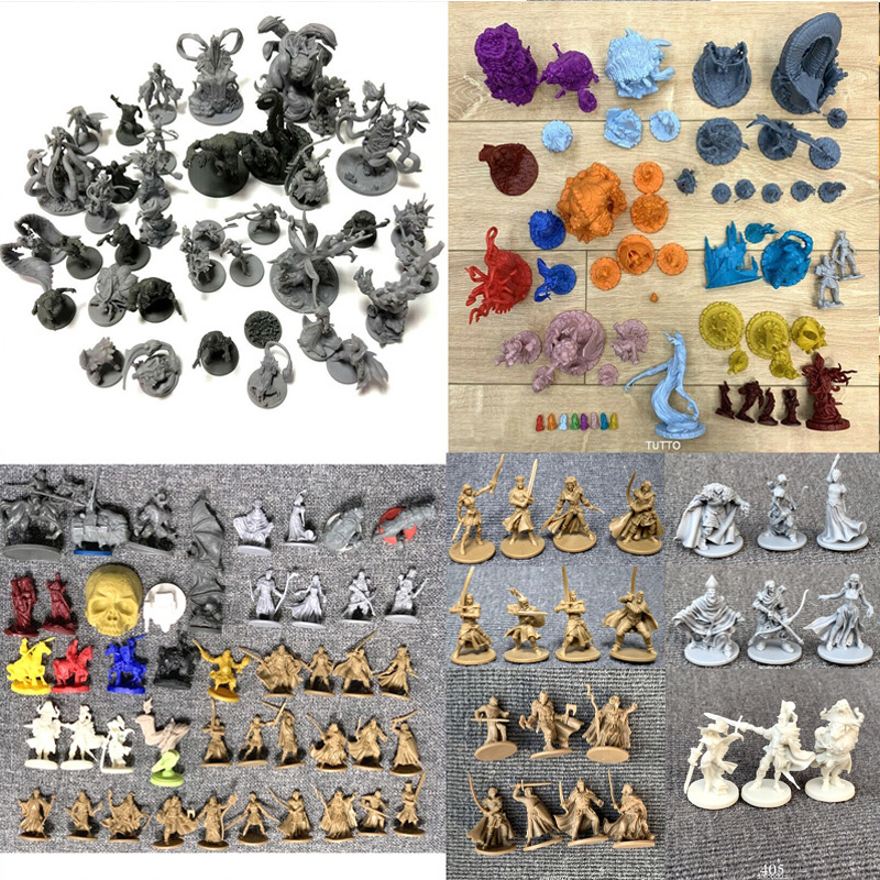 DND Dungeons And Dragon Role Playing Board Games Miniatures Model Underground City Series Cthulhu Wars Game Figures Toys