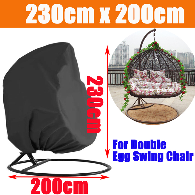 Waterproof Outdoor Garden Hanging Egg Rattan Swing Patio Chair Dust Cover With Zipper Protective Case For Outdoor Furniture 4