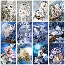 Evershine pintura diamante quadrado completo coruja ponto cruz diamante bordado grânulo imagem kits animais venda decoração de parede