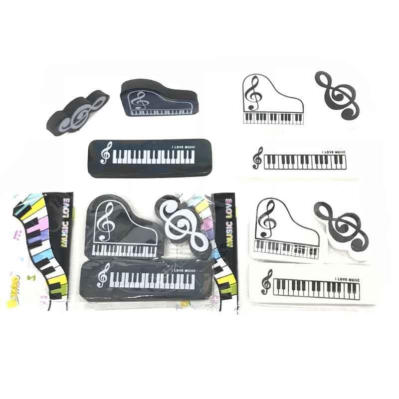 3 قطعة/المجموعة الموسيقية البيانو الملاحظات ممحاة أقلام رصاص من المطاط المدرسة طالب الكورية القرطاسية اللوازم تصحيح للأطفال هدايا X6HA