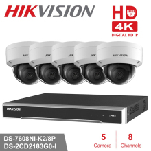 8CJ Hikvision POE NVR Video Surveillance Kits with 5pcs 8MP IP Camera Network Security Night Vision CCTV Security System Kits