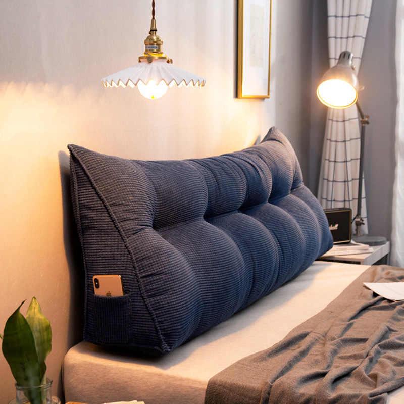 coussin de tete de lit triangulaire style nordique amovible lavage grain de mais meche oreiller en velours coussin de meditation pour canape et