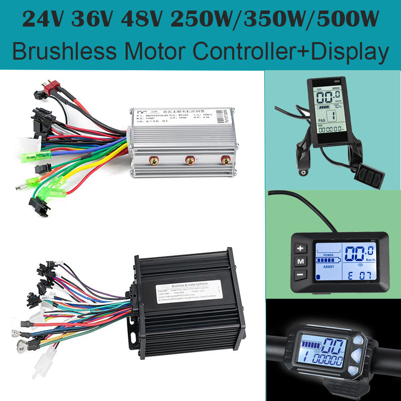 BLDC Motor Controller Display E-bike Brushless Bldc Electric Scooter Display 24V/36V/48V 250W/350W/500W USB Function