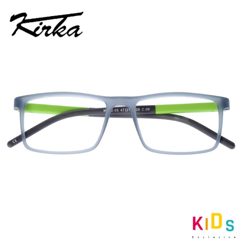 Image 4 - Kirka Kids Glasses TR90 Flexible Eyeglass Frames Children Optical Frame Kids Grey Children Glasses For 6 10 Years OldMens Eyewear Frames   -