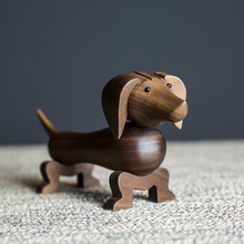 Wholesale Teckel Sausage Dogs Wooden Puppies Dackel Home Car Accessories Birthday Gifts Can Be Issued German Dachshund