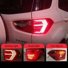 CSCSNL 2Pcs LED טאיליט עבור Ecosport 2013 2019 זנב אורות ערפל מנורה אחורי מנורת DRL + בלם + פרק + אות הנורה קישוט מנורה
