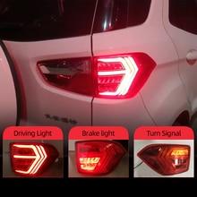 CSCSNL 2Pcs LED TailLight For Ecosport 2013 2019 Tail Lights Fog lamp Rear Lamp DRL+Brake+Park+Signal Bulb Decoration Lamp