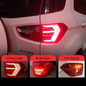 Image 1 - CSCSNL 2Pcs LED TailLight For Ecosport 2013 2019 Tail Lights Fog lamp Rear Lamp DRL+Brake+Park+Signal Bulb Decoration Lamp