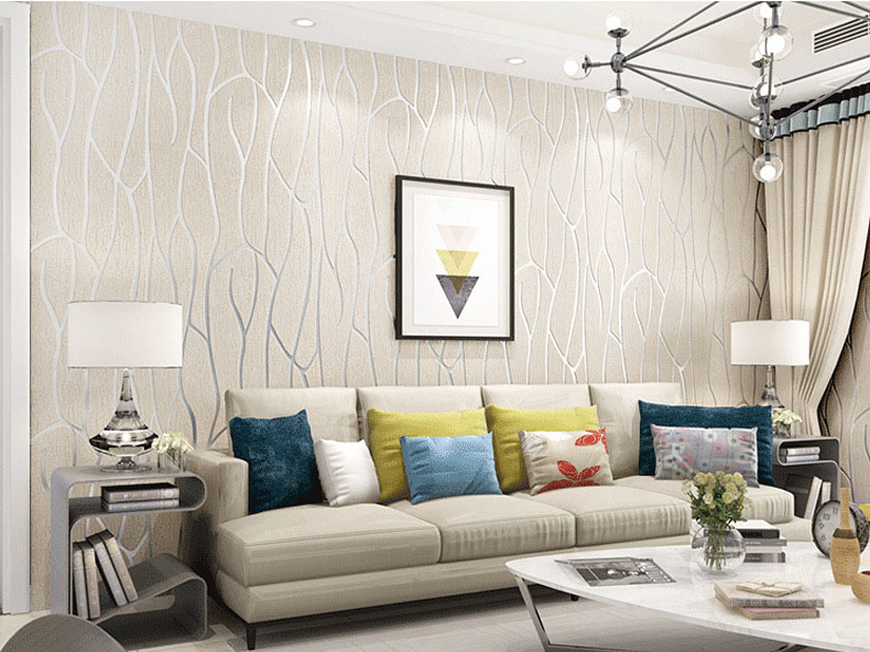 Poloere,multiple Color Wall Paper Modern Design Wallpaper Roll Home Decor Living/gust Room , DIY Decoration