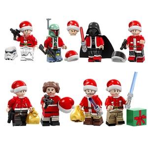 8 Style Compatible LEGO Christmas Series Death trooper Mandalorian Building Blocks Bricks Figure Gift Kid Toys PG8200