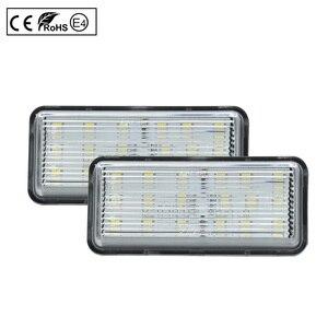 Image 4 - 2pcs LED License Number Plate Light Lamp Clear Light For Toyota Land Cruiser 100 Prado J120 200 Reiz 4D Mark X Lexus LX470 GX470