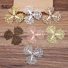 BoYuTe (30 Pieces/Lot) 49MM Metal Brass Flower Filigree Findings Diy Hand Made Jewelry Accessories Wholesale