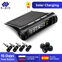 E ACE Solar Power Smart Car TPMS Tyre Pressure Monitoring System Digital Display Auto Security Alarm Systems Tyre Pressure
