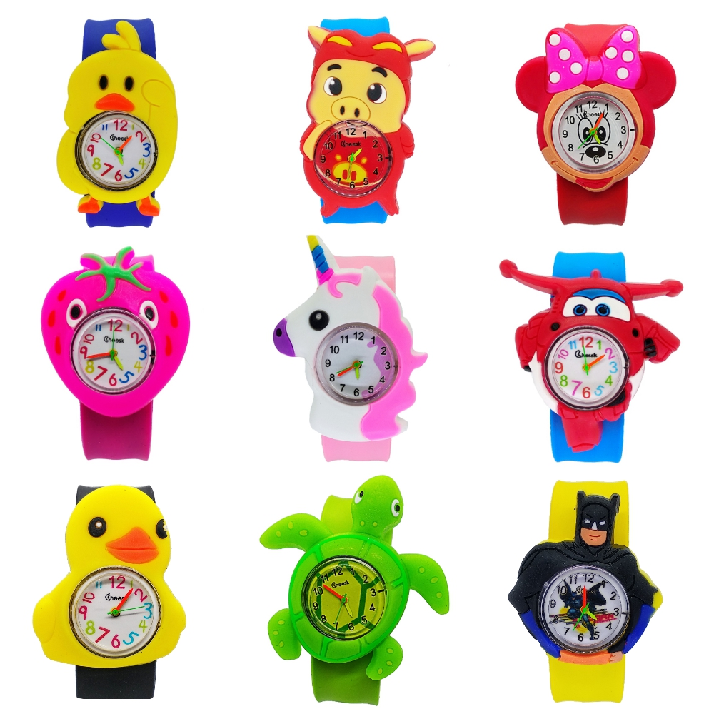Buy Good Quality Children Watch Kids Slap Watches Animal Team Child Watch for Girls Boys Gift Students Clock 1pcs/lot Free Shipping for only 3.96 USD