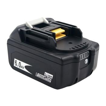 2 PACK 18V 6000mAh Bateria recarregável para Makita 18V BL1830B BL1860B BL1840B BL1815 LXT-400 Versão mais recente Carregamento de saldo 1