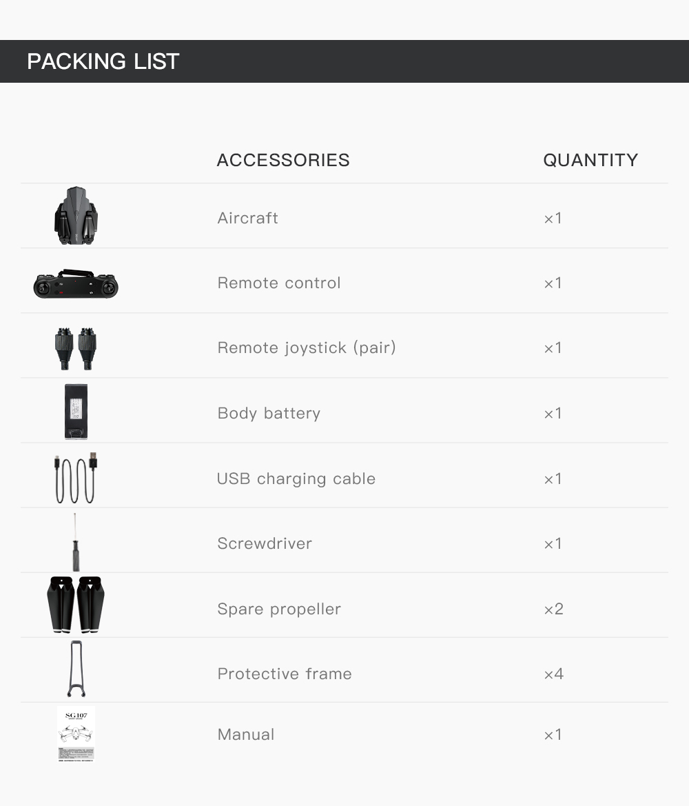 H2fac5ae105ed457086362c2926cfd046c - Mini SG107 Drone 4k Double Camera HD XT6 WIFI FPV Drone Air Pressure Fixed Height four-axis Aircraft RC Helicopter With Camera