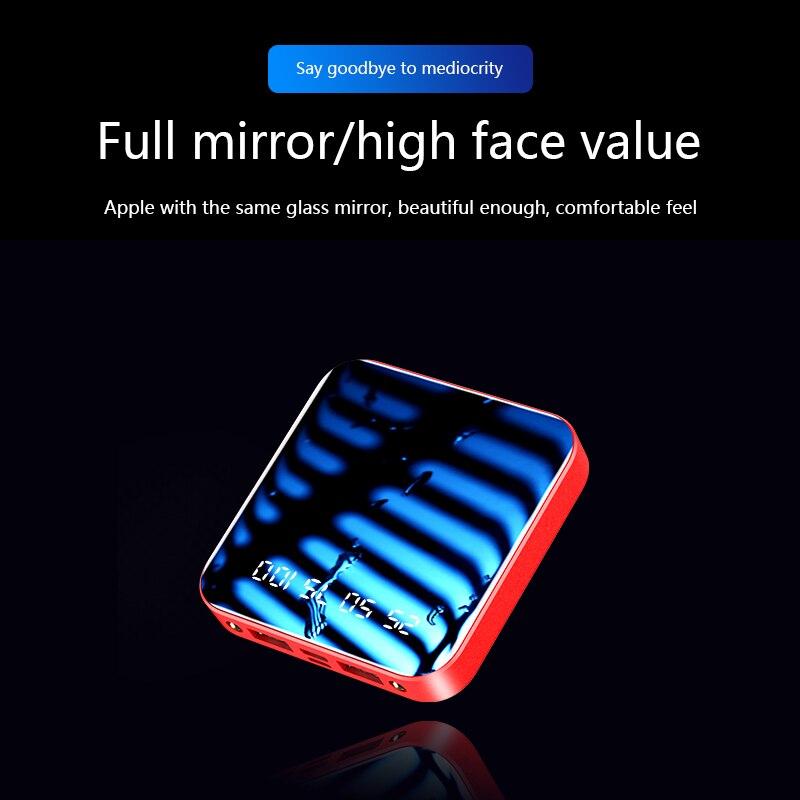 20000 мАч Мини-банк питания для Xiaomi iphone huawei samsung, портативное быстрое зарядное устройство, внешний аккумулятор