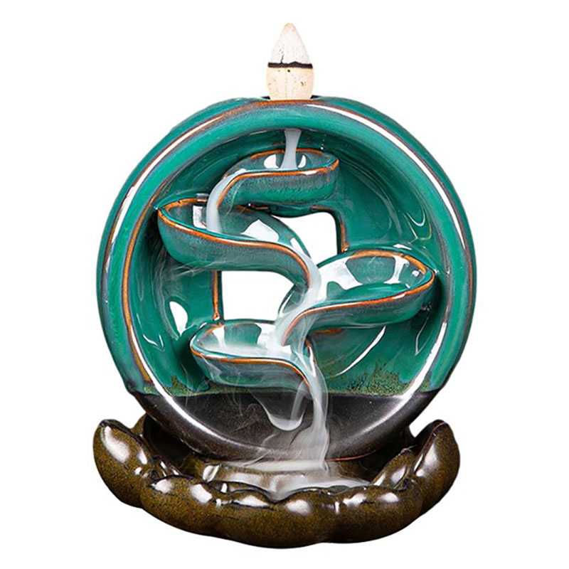 Классические китайские керамические подарки ручной работы, креативный домашний декор, курильница для благовоний с спокойным задним ходом ...