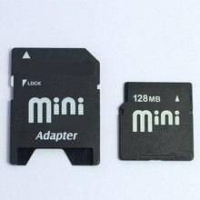 קיבולת קטנה!! 32MB 64MB 128MB 256MB 512MB Minisd כרטיס פלאש כרטיס זיכרון מיני SD כרטיס עם משלוח מתאם