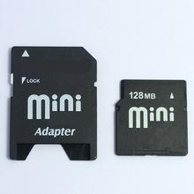Pequena capacidade!! 32 mb 64 mb 128 mb 256 mb 512 mb minisd cartão de memória flash mini cartão sd com adaptador livre