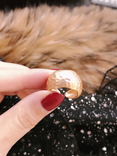 2019 vintage geometry matte style wide adjustable open ring for women gold silver