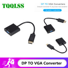 TQQLSS DisplayPort Display Port DP to VGA Adapter Cable Male to Female Converter for PC Computer Laptop HDTV Monitor Projector