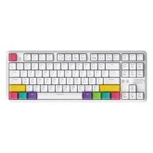 AJAZZ-teclado inalámbrico K870T BT, teclado de juego mecánico RGB para teléfono/tableta/PC, interruptores OUTEMU negro/azul/rojo/marrón