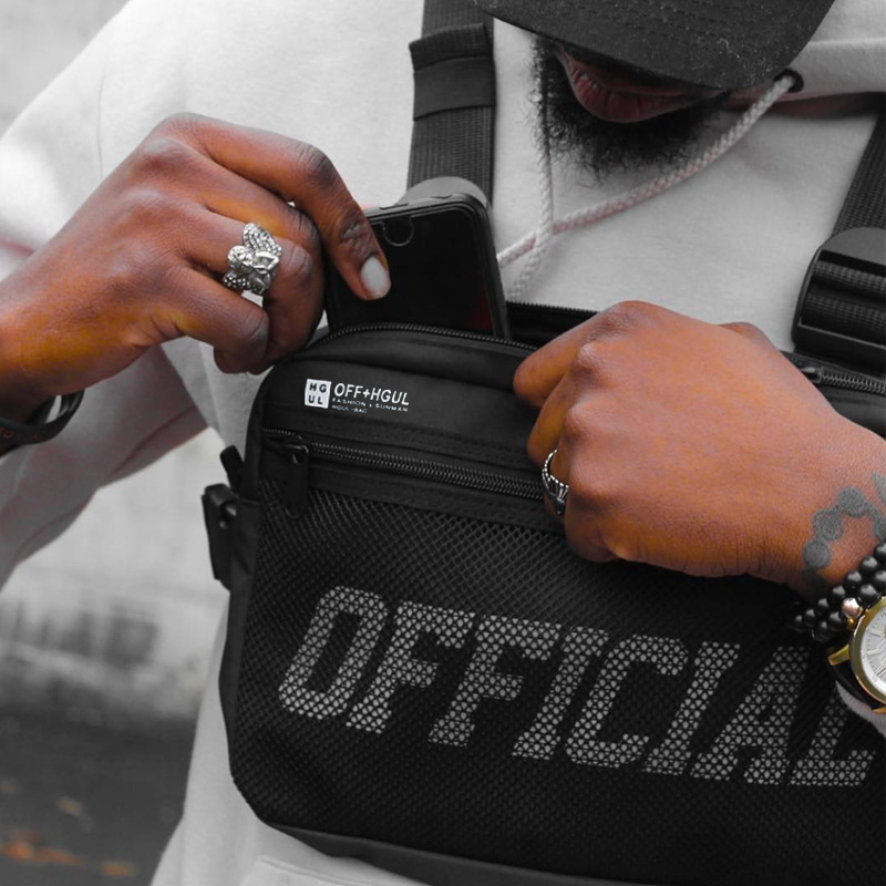 Streetwear Men Bag Tactical Vest Hip Hop Style Crossbody Chest Bags Packs For Women 2019 Fashion Punck Chest Rig Vest Waist Bag