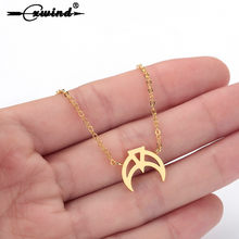 Cxwind New Crescent Moon Pendants Necklaces Hollow Triangle Necklaces for Women kolye Chain Jewelry Birthday Gift collares(China)