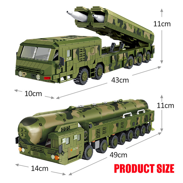 1336PCS City Technic Tank Missile Car Building Blocks Military Weapons Army WW2 Chariot Truck Figures Bricks Toys For Children