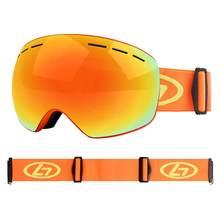 Snowboard óculos de esqui óculos de esqui duplo anti-nevoeiro esférico duplo óculos de esqui verdadeiro revo vermelho comprimidos vektor lunette esqui enfant 30s26
