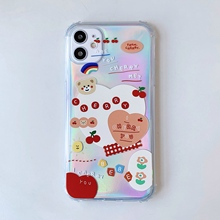 cartoon bear Soft TPU Cover Phone Case For iPhone 11 Pro X Case Transparent Phone Case   Soft TPU Plain Couples Back Cover
