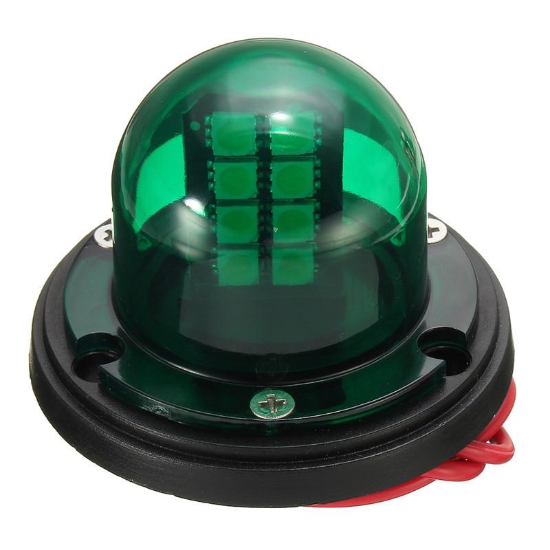 1Pair 12V Stainless Steel Red Green Bow LED Navigation Lights Boat Marine Indicator Spot Light Marine Boat Yacht Sailing Light 4