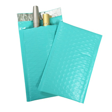 10PCS #000 4x8inch Teal Poly Bubble Mailer Padded Envelope self seal mailing bag bubble envelope Packaging Postal Bag
