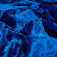 Tejido de costura de terciopelo de licra, azul real, grueso, medio yardas, para vestido o manta de invierno, 45x160cm, KTJ8675
