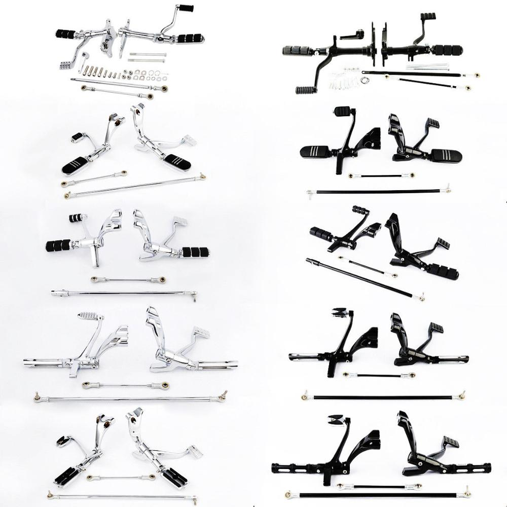 Motorcycle Forward Control Pegs Linkages For Harley Sportster XL 883 1200 91-03 04-13 14-19