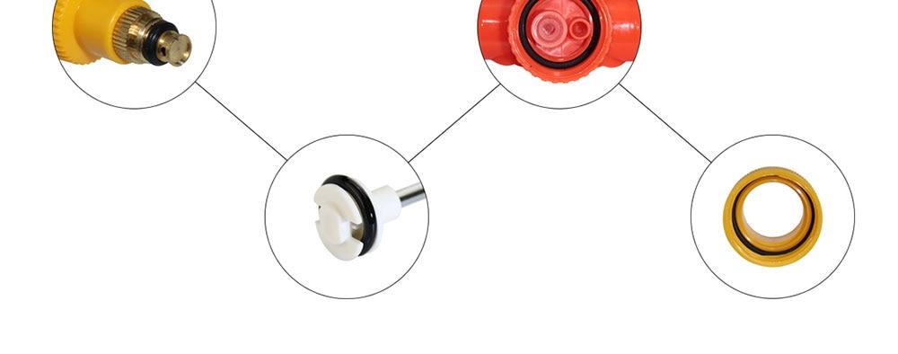 H2fadd41d8d5348239acd0381ea409c29F 1pcs Household High Pressure Air Pump Manual Sprayer Garden Adjustable Trolley Gun Nozzle Watering Spray Sprayer Head with Joint
